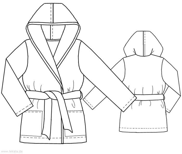 На уменьшенном чертеже дана выкройка халата для 28- 30 размеров. . Большие воротники - капюшоны 2