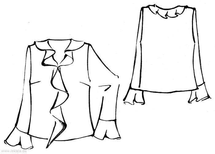 Блузка из шифона, выкройка