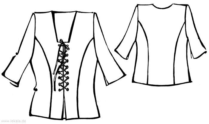 Выкройка блузки без рукавов