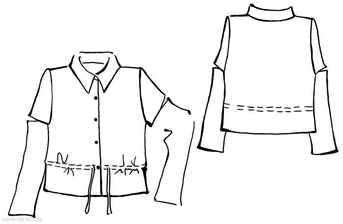 Быстрые выкройки блузок