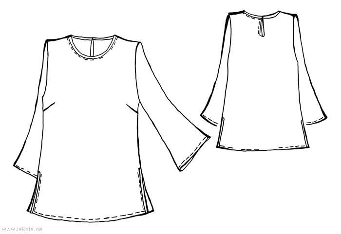 Описание: b Выкройка туники, выкройка платья туники - отличный вариант не только для тех