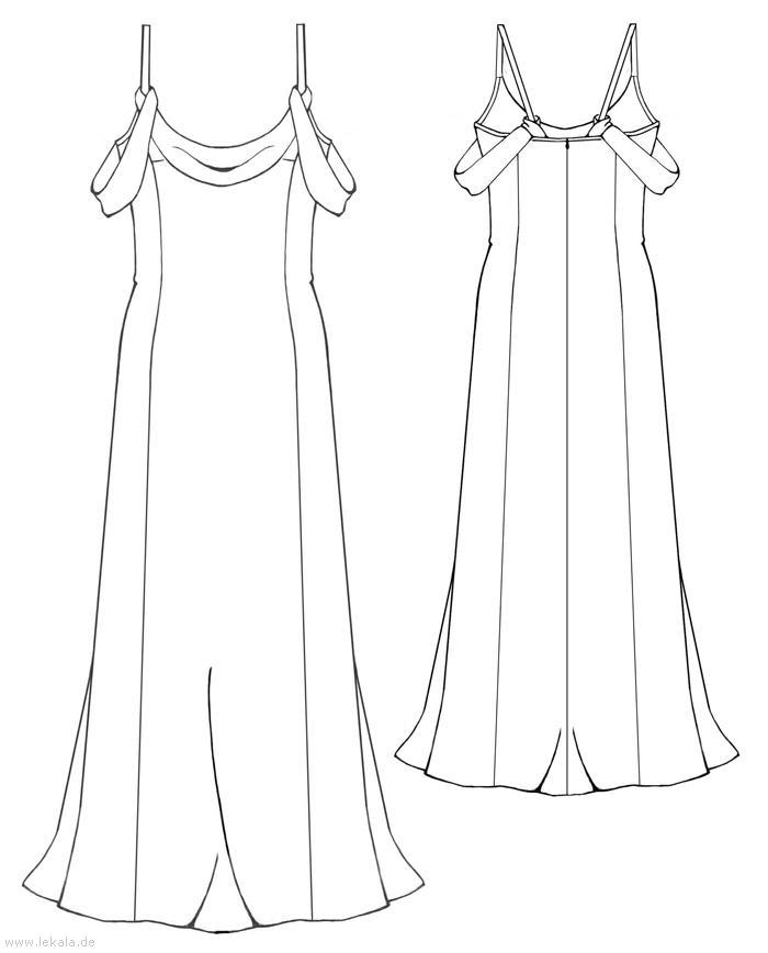 Готовые выкройки длинных платьев 10
