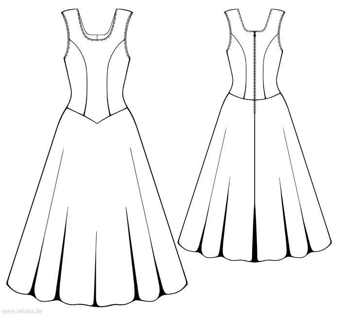 Выкройка простого платья для полных 9