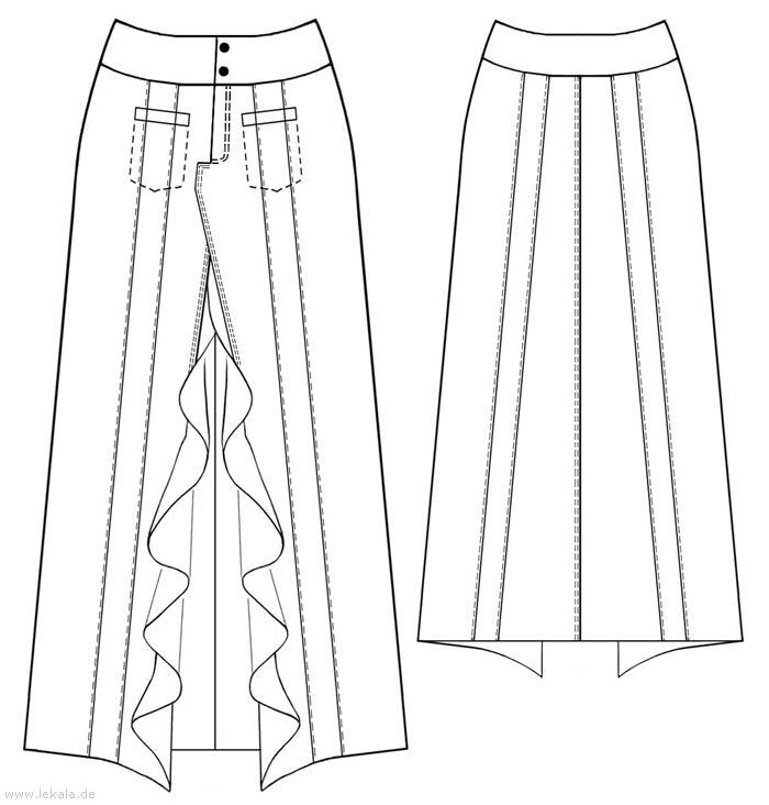 Выкройки больших размеров для полных: Выкройка длинной юбки с большим разре