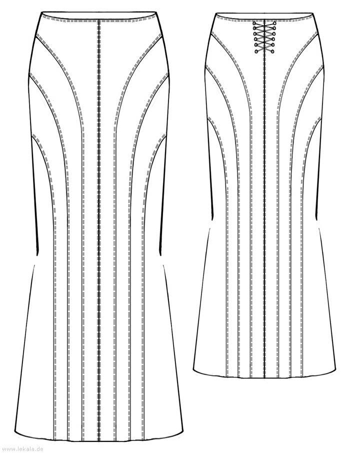 Сложность: низкая. Ткани: шёлк. Выкройка длинной юбки. Скачать бесплатную выкройку в формате pdf. годе