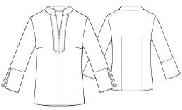 летняя трикотажная блузка