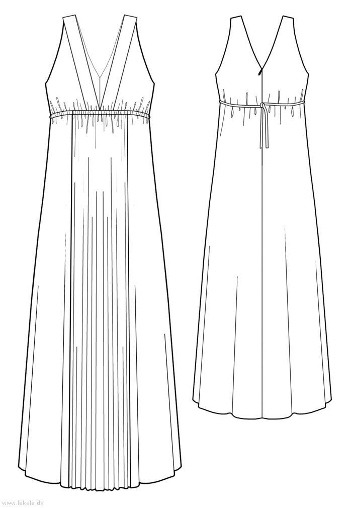 Платье в пол, выкройка