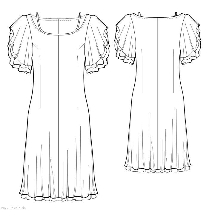 Выкройка платья 50 размера бесплатно 8
