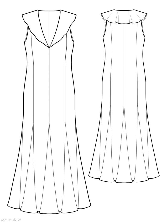 Выкройка платья 50 размера бесплатно 9