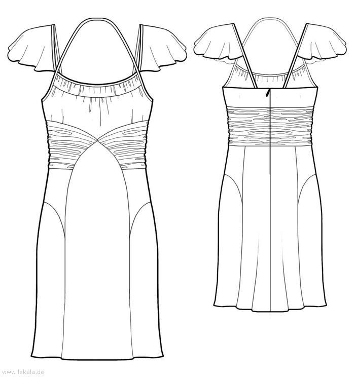 Выкройка простого платья для полных 4