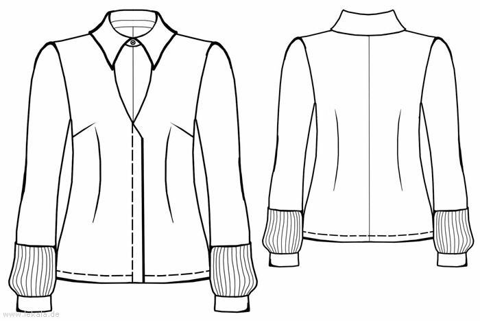 Самый простой крой блузки в сочетании с удачно выбранной тканью и отделкой превращается в прекрасный наряд