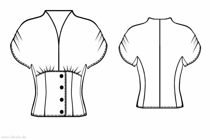 Моделируем Блузу С Бантом