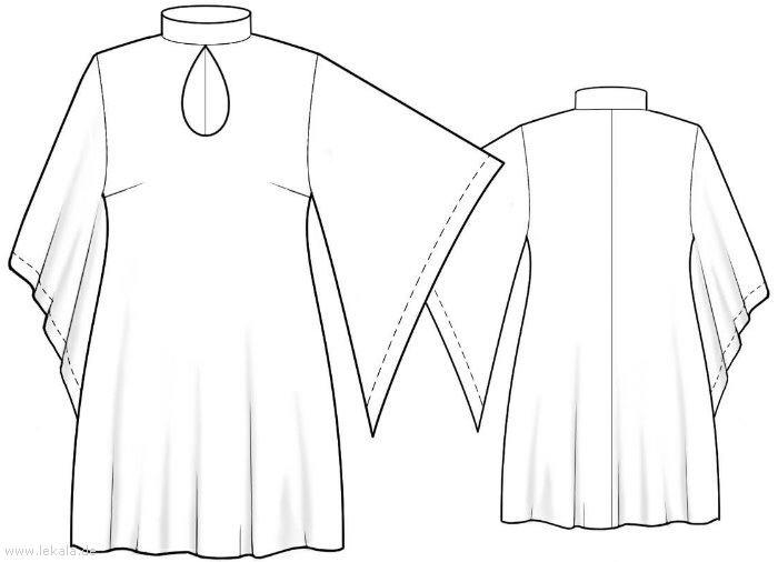 Порядок раскроя ткани для туники с. выкройки женской одежды