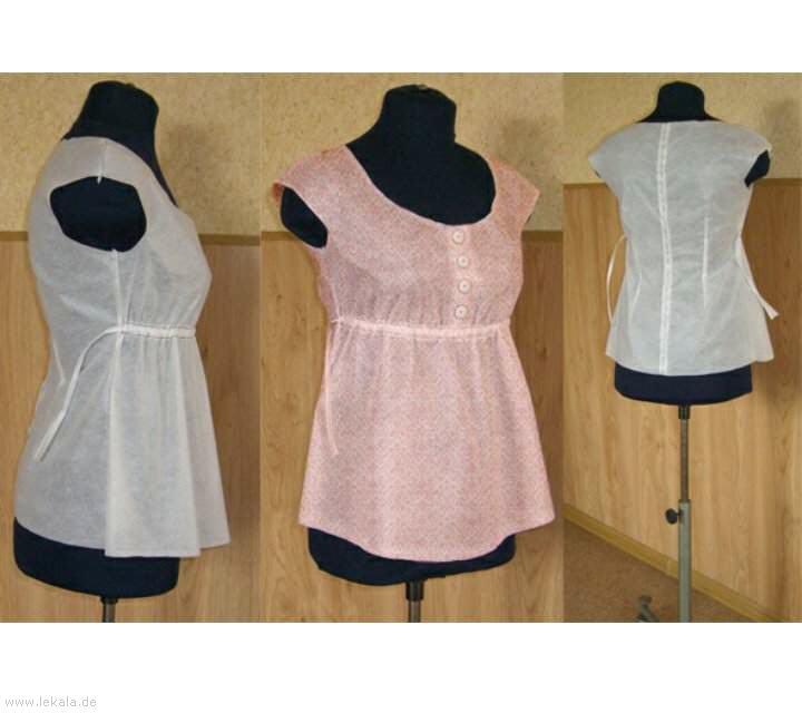 Как сделать выкройку блузки - Кройка и